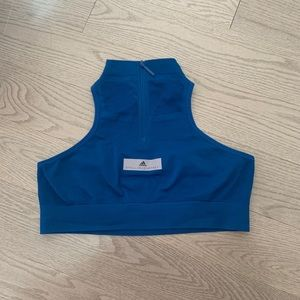 Blue adidas sports bra
